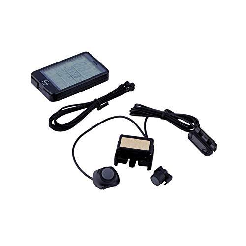 ZengBuks Résistant à l'eau Numérique Wired Vélo Vélo Ordinateur Odomètre Tachymètre Bouton Tactile LCD Rétro-Éclairé Set Vélo Accessoires
