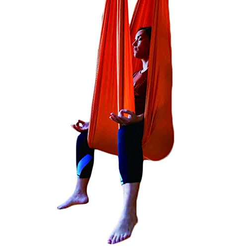 Seasofbeauty Inversion de Yoga Balançoire Anti-gravité d'air Elastique Swing Hamac Sling