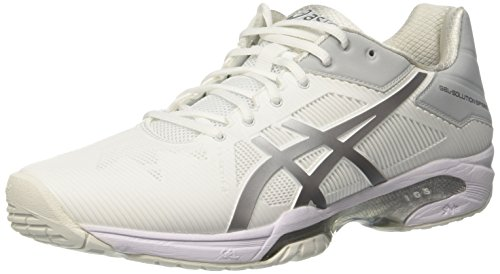 Asics Gel-Solution Speed 3, Chaussures de Tennis Femme, Blanc Cassé (White/silver), 39 EU