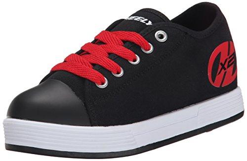 Heelys X2 Fresh, Chaussures de Tennis garçon, Noir (Black/Red), 32 EU