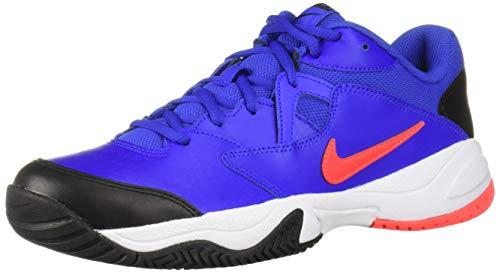 Nike Nikecourt Lite 2, Chaussures de Tennis Homme, Multicolore (Racer Blue/Bright Crimson/Black/White 400), 43 EU