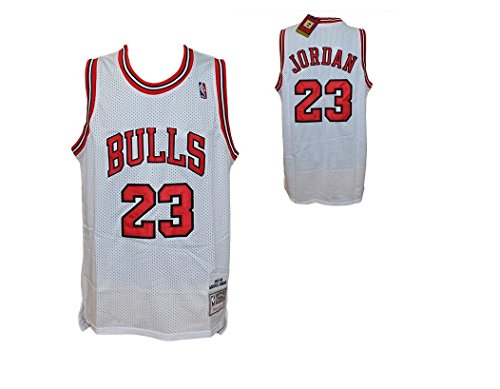 Hardwood Classics Débardeur Blanc NBA Retro Vintage - Michael Jordan - Chicago Bulls - Taille XL