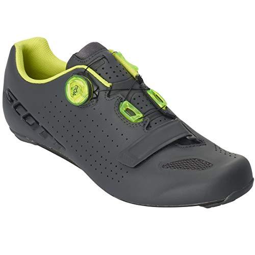 Scott Road Vertec Boa 2019 Chaussures de vélo Gris/Jaune, Taille 43