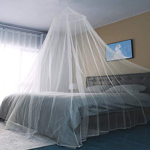 Sekey 60x250x1200cm Moustiquaire pour Lits Simples à Doubles   Protection de d'insecte   Écran de Protection Anti-Insectes   Système d'installation Rapide et Facile