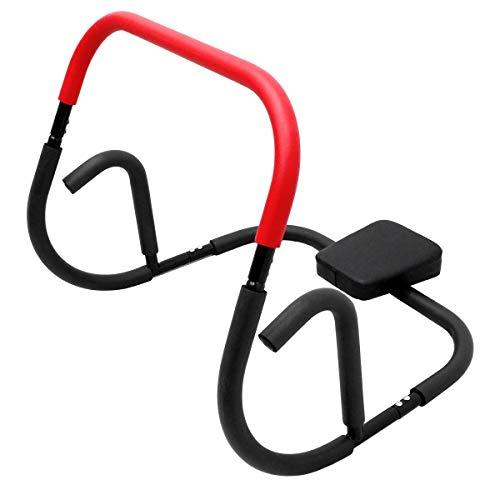 ECD Germany Ab Trainer appareil de musculation - Entraîneur abdominal - Avec repose tête - Musculation efficace des abdominaux à la maison - Équipement de fitness - Chargeable jusqu'à 100kg