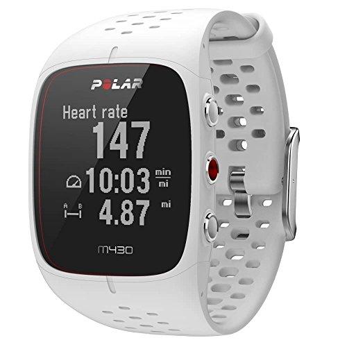 Polar - M430 - Montre Running GPS avec suivi de la Fréquence Cardiaque - Blanc - Taille M-L