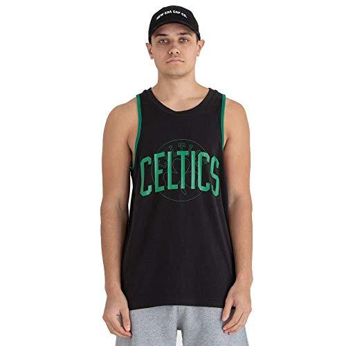 A NEW ERA NBA Double Logo Tank Boscel Blk Débardeur Homme, Noir, XL