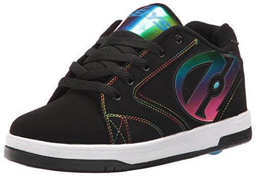 Heelys Propel 2.0, Chaussures de Tennis garçon, Noir (Black/Rainbow Foil), 32 EU