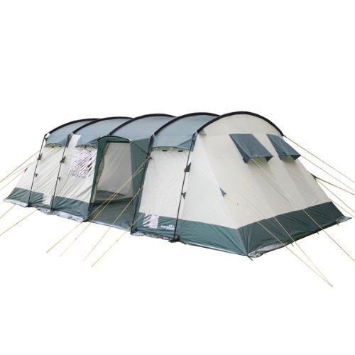 SKANDIKA Hurricane 8 Tente de camping tunnel familiale pour 8 personnes 650 x 310 cm