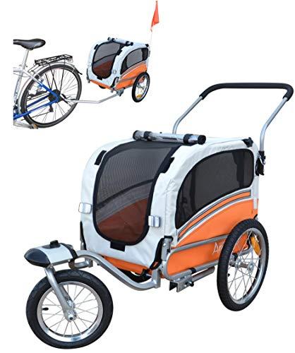 Papilioshop Argo Remorque à vélo et Poussette pour Le Transport de Chien et Animaux (Orange Small)