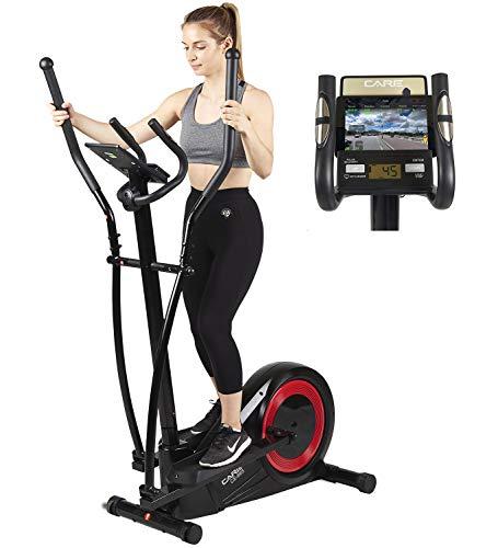 Vélo elliptique réglage motorisé CE-665 par Care | 21 programmes - Remise en Forme complète - Fonction ergomètre