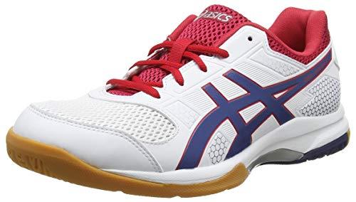 Asics Gel-rocket 8, Chaussures de Volleyball homme - Blanc (White/Deep Ocean 100), 42.5 EU