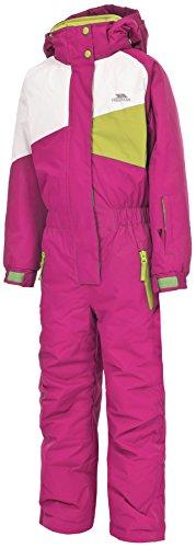 Trespass Wiper Combinaison de Ski Mixte Enfant, Rose Bubble Gum, 11/12