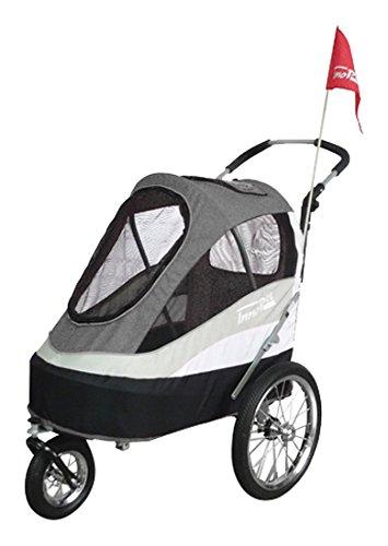 Innopet IPS-055/AT Sporty Dog Trailer Deluxe Poussette/Remorque Vélo pour Chien Noir/Gris