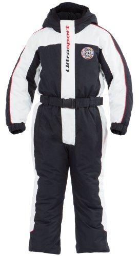 Ultrasport Combinaison de Ski pour Enfant Lech Noir weiß/Schwarz/Rot 110/116