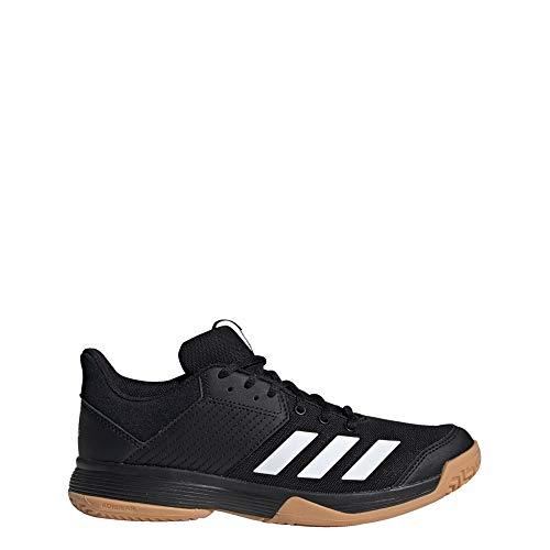 adidas Ligra 6, Chaussure de Volleyball Femme, Core Black/FTWR White/Gum M1, 46 EU