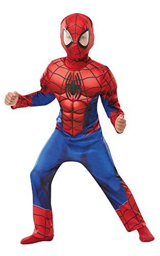 Rubie's 640895Spiderman officiel Marvel Spider-Man, Deluxe enfant Costume-age Hauteur 140cm, garçon, 9-10