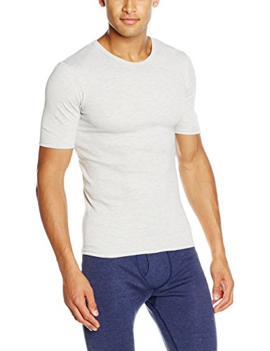 Damart Tshirt Col Rond Maille Interlock Thermolactyl Degré 3 Haut Thermique Homme, (Gris Chine), Medium (Taille Fabricant: M)
