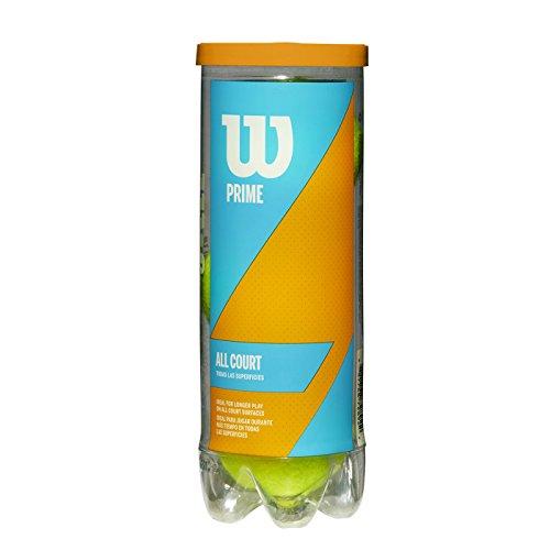 Wilson Balles de Tennis, Prime All Court, Boîte de 3, pour tous les Revêtements, Jaune, WRT102200