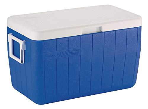 Coleman - Cooler Polylite 48 Quart - Glacière - Bleu - 45 litre