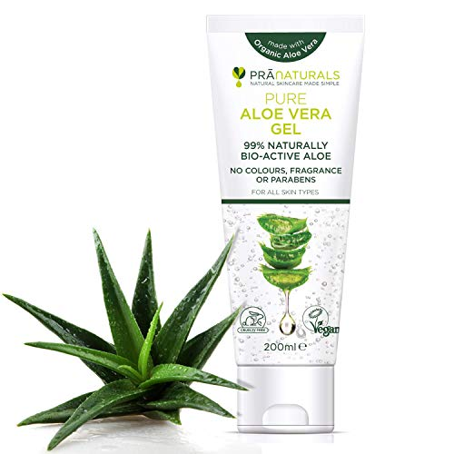Gel à L'Aloe Vera Bioactif PraNaturals 200ml Apaisant naturel et hydratant nourrissant (Paquet de 1)