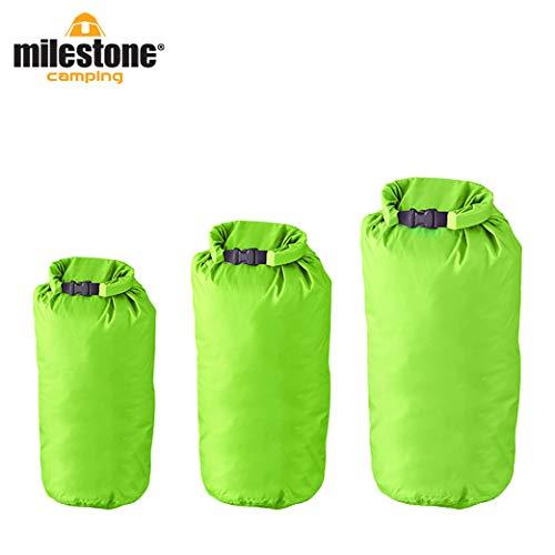 Milestone Camping Sacs étanches (Pack de3) -Verts