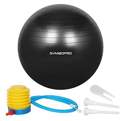 GYMBOPRO Anti - Explosion Antidérapant Bule D'équilibrage des Appareils d'exercice Les Sports De Balle De Yoga Maison Fauteuils De Bureau Black 65cm