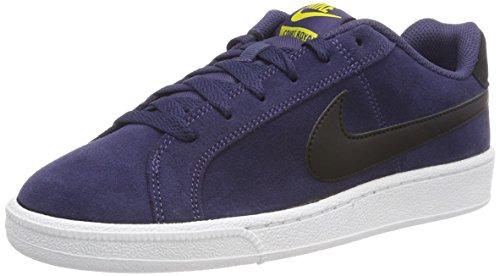 Nike Court Royale Suede Chaussures de Tennis Homme, Bleu (Indigo Neutre/Noir/Jaune Tour 500) 43 EU