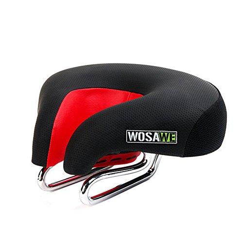 Sysi Selle de vélo VTT pour homme et femme à large assise et fort rebond, avec arche en acier