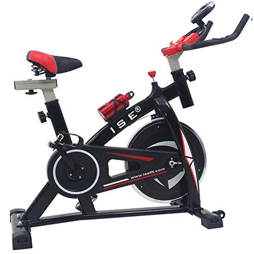 ISE Vélo D'appartement Ergomètre Cardio Vélo de Biking Vélo Spinning Biking Exercice de Fitness d'aérobie, Silencieux, Poids d'inertie 13 KG,SY-7802