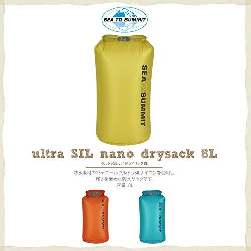Sac fourre-tout Ultra Sil Nano Drysack de Sea to Summit-Sac de rangement léger et étanche, 8 Liter, Bleu