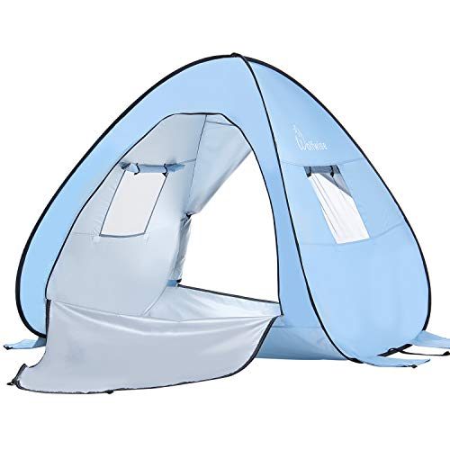 WolfWise UPF 50+ Abris de Plage Pop Up Parasol de Plage Tente Instantan¨¦e en Plein air Sportive en Plein Air Portable