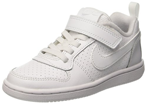 premium selection 102c7 17566 Nike Court Borough Low (Psv), Chaussures de Basketball garçon, Bianco (White