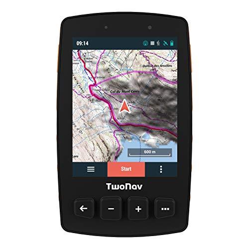TwoNav Trail 2 pour la Randonnée Pédestre, l'Alpinisme   GPS Sport, Piéton - Signaux GPS, Galileo, Glonass - Léger, Compacte, Robuste - Longue Durée d'Autonomie - Écran de 3,7 pouces - Résistant Pluie