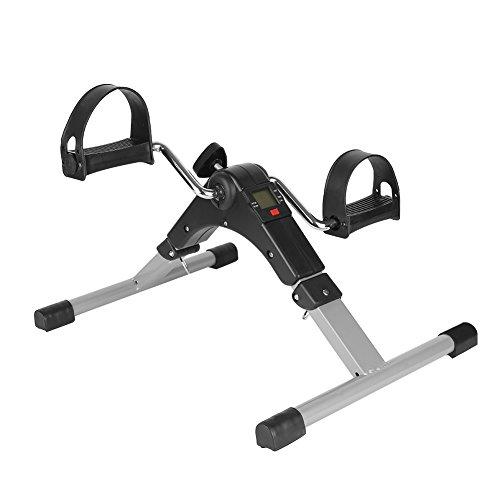 Flyelf Mini Vélo d'exercice, Exerciseur de Pédale Se Pliant, Bras de Forme Physique d'intérieur et Jambe, avec la Résistance Réglable d'affichage Numérique