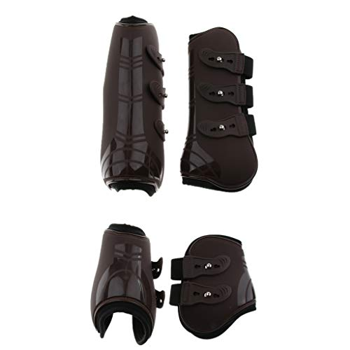 B Baosity 2X Paires Bottes de Cheval Jambe Poney Tendon avec Jambe Protectrice Equestrian