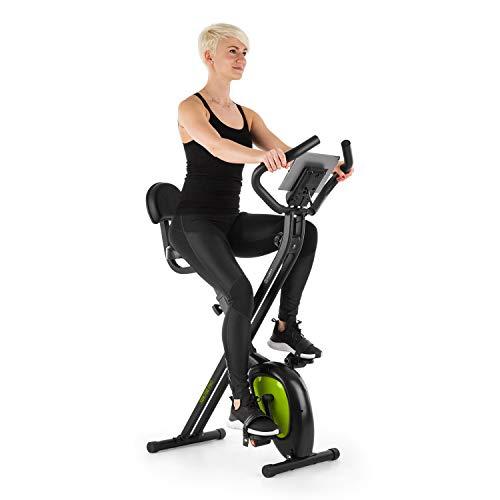 Klarfit X-BIKE-700 2.0 Ergomètre Home-Trainer - Vélo Fitness Cardio, Ordinateur d'entraînement, Pulsomètre intégré, 8 Niveaux de résistance réglables, Noir-Vert