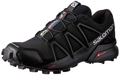 Salomon Femme Speedcross 4, Chaussures de Trail Running, Noir (Black/Black/Black Metallic), Taille: 39 1/3