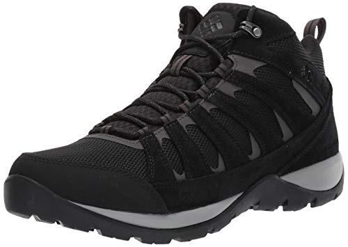 Columbia Redmond V2 Mid WP, Chaussures de Randonnée Imperméables Homme, Noir (Black, Dark GRE), 43 EU