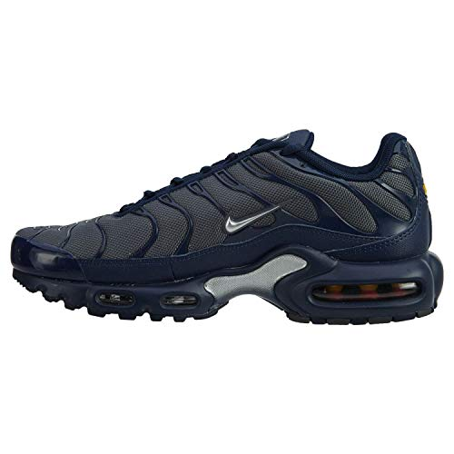 Nike Tuned 1 Air Max Plus TN Baskets pour homme - - Dark Grey/Metallic Silver, 42 EU
