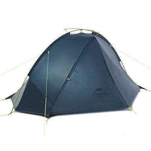 Naturehike Taga ultraléger Sac à dos Tente une couche de cyclisme Tente pour 1/2 personnes (bleu foncé 1 personne)