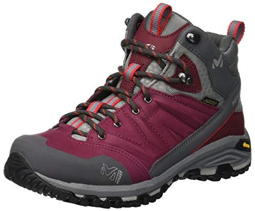 Millet - Hike Up Mid GTX W - Chaussures de Randonnée Mi-hautes - Femme - Membrane Gore-Tex Imperméable - Semelle Vibram - Bordeaux