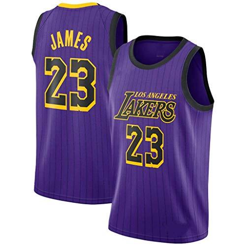SansFin Lebron James, Maillot De Basket-Ball, Lakers, City Edition, Nouveau Tissu Brodé, Swag Sportswear