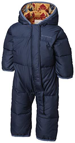 Columbia Bébé Combinaison de Ski, SNUGGLY BUNNY BUNTING, Polyester, Bleu (Coll navy/Canyon gold critter), Taille : 18/24 mois, 1516331