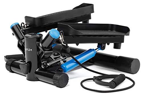Elitum Stepper d'appartement NX-300 avec Cordes élastiques et Mini Ordinateur Multifonctions - Compact et Silencieux