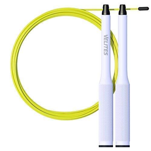Velites Corde à Sauter pour Crossfit, Fitness et Boxe Vropes Fire 2.0 Speed Jump Rope Lestée (Lests Non Inclus) - Aluminium