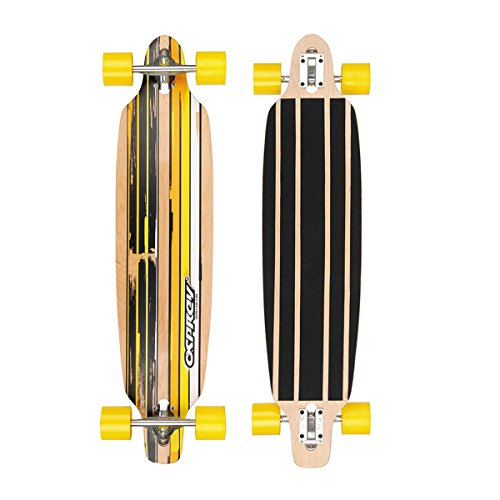 Osprey Flint Yellow Twin Tip Skateboard Homme, Jaune/Orange, 99 cm