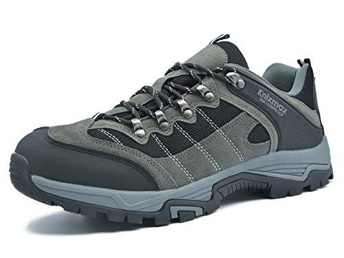 Knixmax Femme Homme Chaussures De Randonnée Extérieure Non-Slip Semelle Imperméable Trekking Chaussures De Marche Randonnée 45 EU-(UK 11) Gris