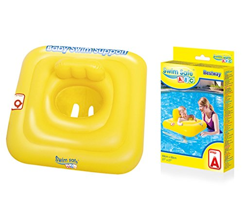 Bestway - Bouée siège gonflable pour bébé carrée, 69 x 69 cm