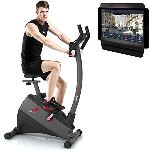 Sportstech Vélo d'Appartement ergomètre ESX500 Commande par Application Smartphone Bluetooth, écran 5,5', Poids d'inertie 12 kg, vélo de Sport d'intérieur, Fitness à Domicile